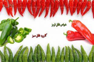 کاربردهای فلفل قرمز و فلفل سبز